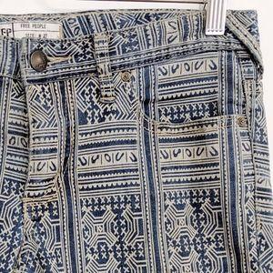 Free People Jeans - free people | blue rotary tribal geo skinny jeans